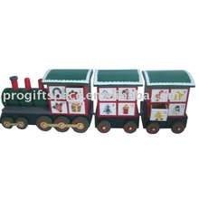 Movable Train Wooden Advent Calendar