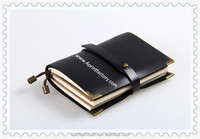 Retro Leather Cover Notebook For Recording