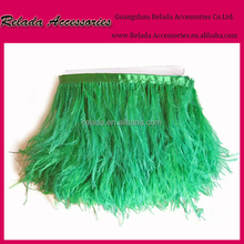 Wholesale Ostrich feather fringe costume applique ribbon trimming clothing trim