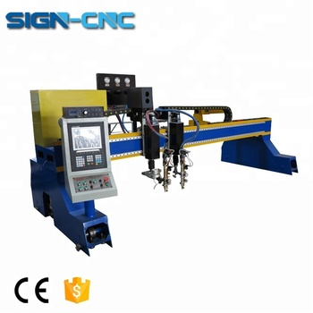 Heavy duty ms mild steel metal plate gantry cnc plasma cutting machine