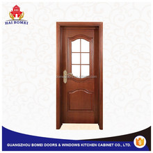 Solid wood with glass interior door