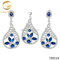 Fashion High Quality Jewelry Sets African Jewelry Set Silver Wholesale