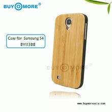 Hot-selling!!!high quality Genuine Bamboo Wood Case Cover for Samsung Galaxy S4 made of eco-friendly and environment bamboo wood
