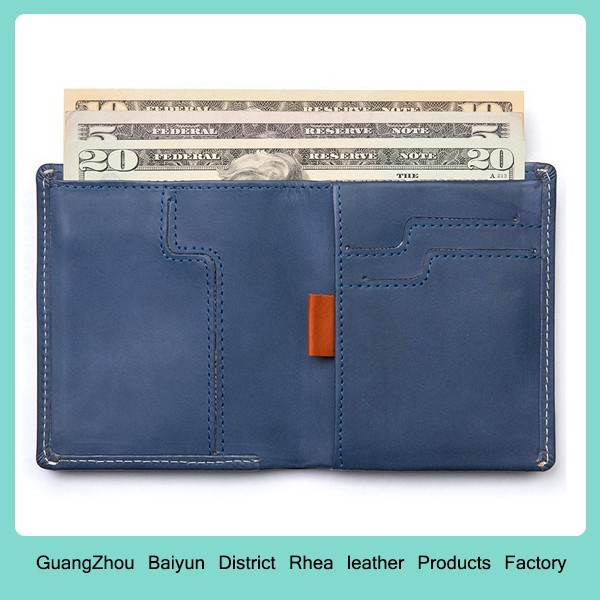 Mens Front Pocket RFID Blocking Genuine Leather Credit Card Slim Minimalist Bifold Wallet