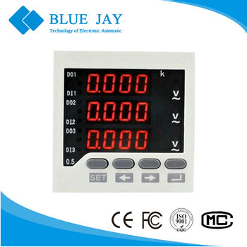 BE-72 72*72 3AV 0-500V digital voltmeter panel mount