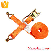 5cm 5ton 10m Polyester Lashing Strap,Cargo Control Ratchet Strap,Ratchet Tie Down with Double J hooks