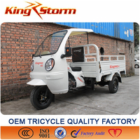 China Gold Supplier Water-cooled Engine Cargo Cabin Tricycle With Closed Box/Three Wheel motorcycle For Sale