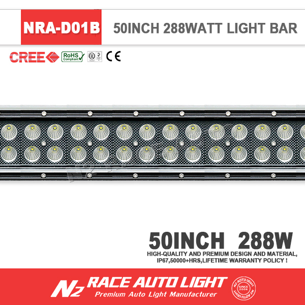 2016 Dodge Ram 1500 Accessories 50'' 288 Walt Black Straight 3D Reflector Led Light Car 12V Combo Led Light Bar For Jeep Jk