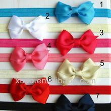 free shipping 14 colors 8cm ribbon bow baby girl <strong>hair</strong> <strong>accessories</strong> bow headband
