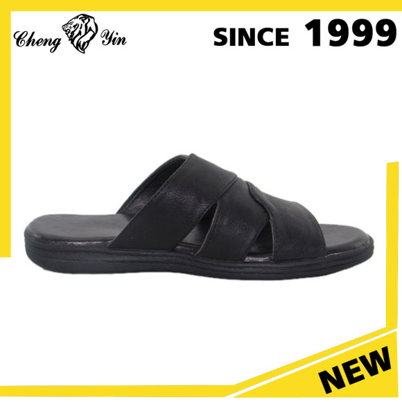 Wholesale China Low Price Classic Custom Slides Shoes Sandal Men Slippers PU sandals custom slides