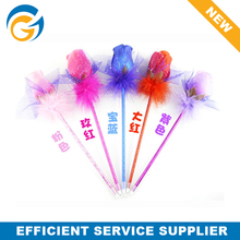 2014 Hot Wholesale Promotional Custom Feather Flower Ball Pen