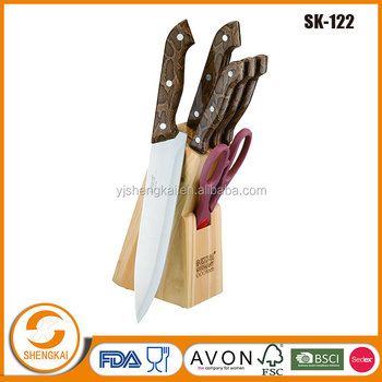 Food grade knife set stainless steel in stocked