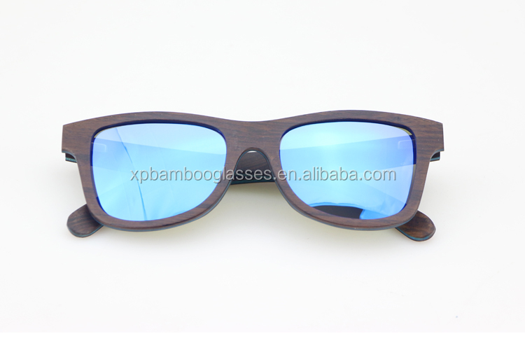 Wholesale Fashion Custom Ebony Wood Women Men Polarized Sunglasses 2018