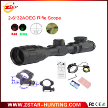 4-16 times 40mm Objective Diameter red and green laser waterproof fog proof rifle scope