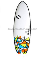 Cute design soft top foam fish tail surfboard XPE surfboard graphic design short soft surfboard