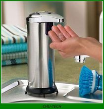 2015 NEW arrival 250ML Automatic Touchless IR Sensor Liquid Soap Dispenser for Kitchen Bathroom Home Hotel