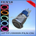 1NO1NC Ring type 19mm illuminated metal pushbutton reset push button switch