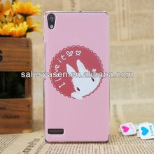 color printing hard case for huawei ascend p6,customer's design with MOQ 20pcs