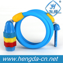 YH9152 Colorful small 3-Digital Combination Bike Chain Lock bicycle cable lock for children