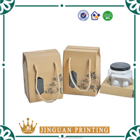 Creative design corrugated paper packaging custom printing kraft box with window