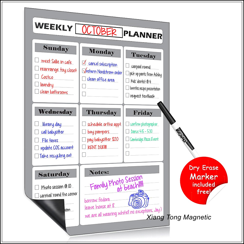 Wholesale Magnetic Refrigerator Calendar Whiteboard With Expo Dry Erase Markers