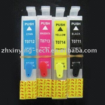 Ink Cartridge, Suitable for Epson T0711 T0712 T071 T0714