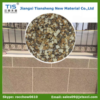 Good quality and 15-20 years no colour change stone effect and natural granite paint for exterior