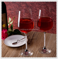Elegant Handmade Crystal Wine Glass For