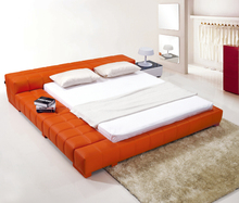 Simple Fashion Designs Euro Style Leather Low Bed For Home Use