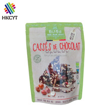 Custom printing plastic biodegradable food packaging bag stand up pouches bags with zipper for cookie popcorn