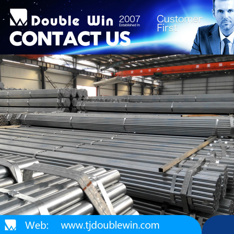 Pre galvanized welded steel pipe/black powder coated galvanized steel pipe