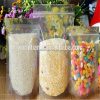 Factory T&L produced stand up poly grip seal zipper rice bag for cooking use