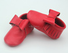 Red wholesale fashion genuine leather moccasins baby