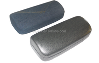 magnetic transparant leather print sunglass case