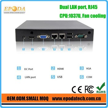 Dual display mini PC X86 with HDMI CPU Intel Celeron dual core 1.8GHz
