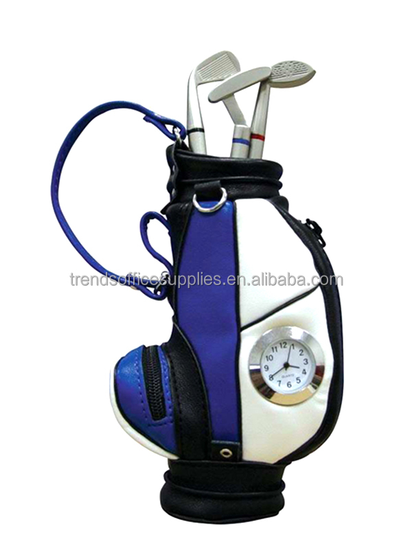 Golf Bag Pen holder and watch/Golf Bag analog watch