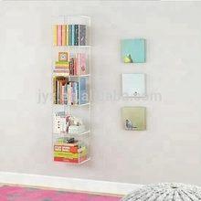 top quality wall mounted decorative clear acrylic,acrylic book shelf