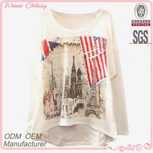 Trendy O neck fashion printed t-shirt korea design