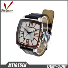 New promotional gifts stainless steel back fashion leather band man watch