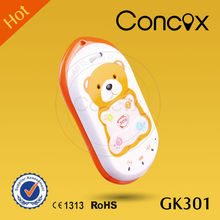 Concox 2015 Big promotion Cute GK301 GPS+GPRS+GSM Kids Phone with SOS panic Button mobile phone gps tracker