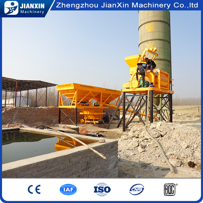 High quality high efficiency electric concrete mix batching plant factory