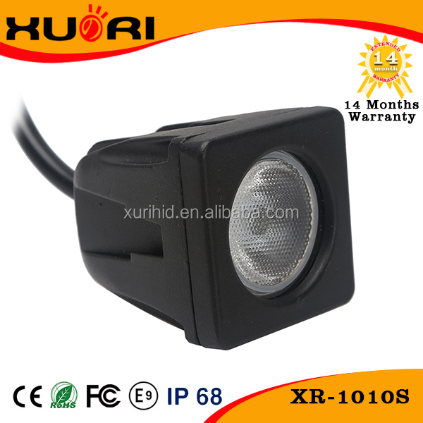 Square 10W LED Work Light 2 Inch 10 Watt Black LED Mini Auxiliary Work Light For Motorcycle car 4X4