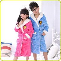 Luxury Personalized Custom Soft Touch Flannel Fleece Bathrobes For Kids