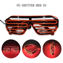 led sound active sunglasses in red light