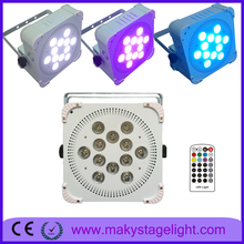 new pro12*18W RGBWA UV 6in1 Flat Par Led Light/Slim Led Par 64/6in1 Led Par