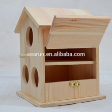 New Unfinished Wooden Bird House Wholesale, Wooden Bird House Kit, Bird Cage