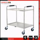 Stainless steel Hotel Trolley/Stainless Steel Dining Cart/Stainless Steel Serving Cart