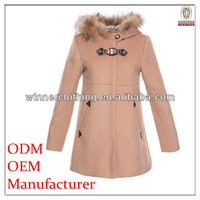best selling polyester a-line brand popular coat with fur cape