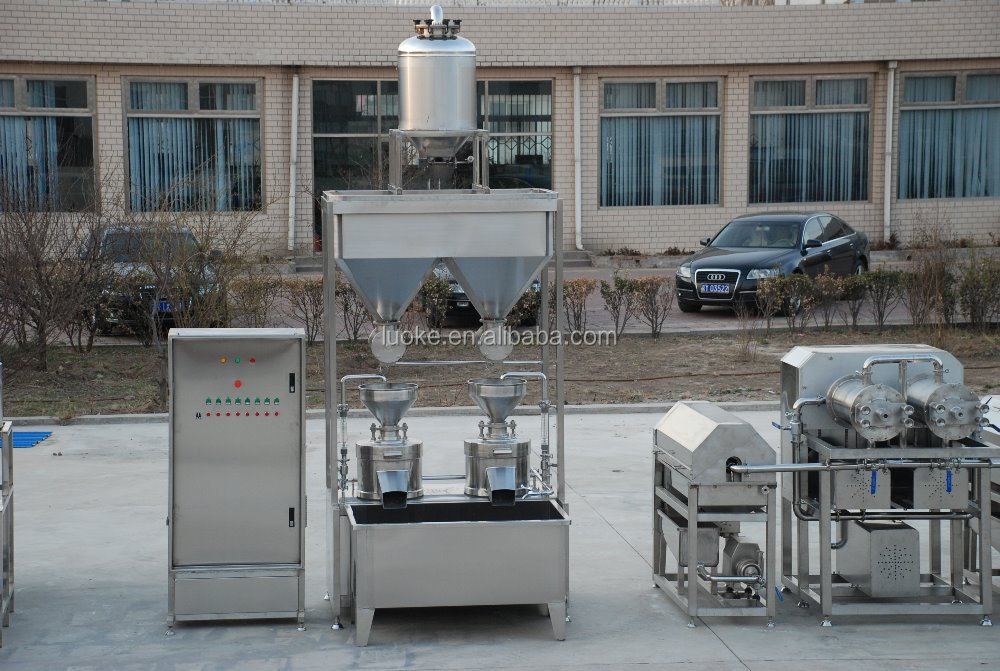 CE/LUOKE brand/ full automatic customized soy milk processing line