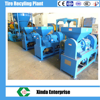 Low price of waste tyre recycling in machinery